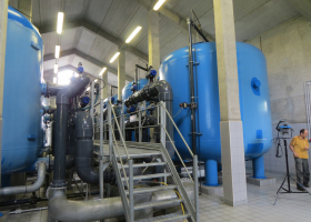 Pumping station Brestovica na Krasu (Project Hydrokarst). (Photo: Anton Brancelj)