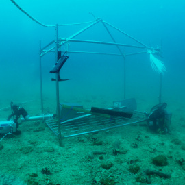 Working platform on the seafloor.
