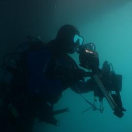 Underwater photodocumentation.