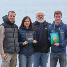 Novejši monografiji raziskovalcev biodiverzitete morja  (slika: Tomaž Primožič)