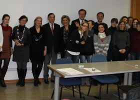 Udeleženci rednega letnega sestanka projekta Glioma v Vidmu, decembra 2013.(foto: Dr. Neža Podergajs)