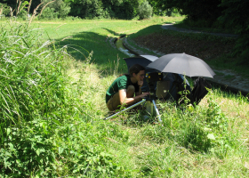 Field work with a portable laser vibrometer (photo: M. Zorović)