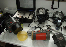 Oprema za sporazumevanje pod vodo (foto: T. Makovec)