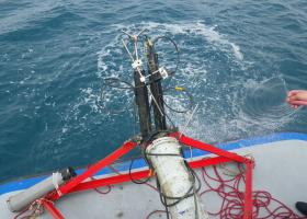 Merilnika turbulence na nosilnem ogrodju (foto: T. Makovec)
