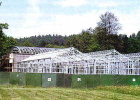Gradnja nove stavbe Biološkega središča Vhodni objekt v botaničnem vrtu